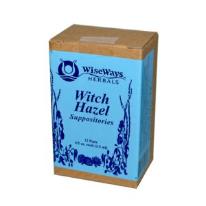 Wiseways Herbals Witch Hazel Suppositories